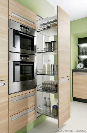 kitchen-cabinets-modern-two-tone-pullout